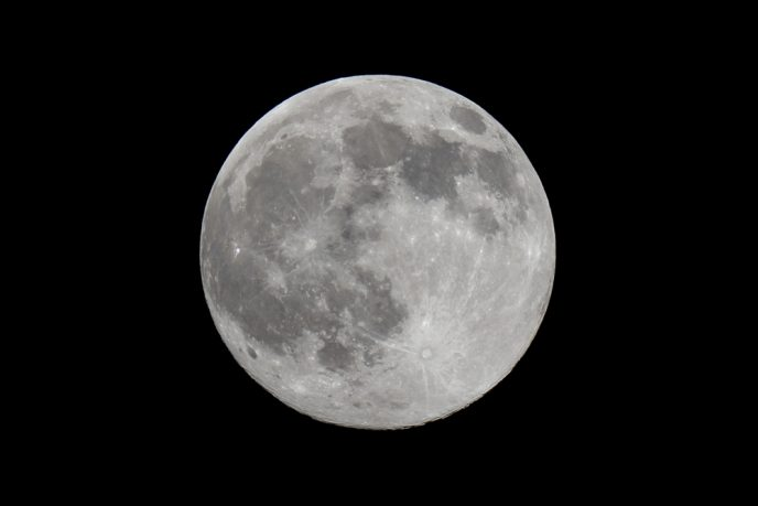 Full moon through a telescope