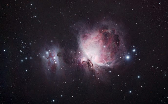 Orion nebula using a DSLR through and telescope