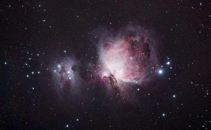 Orion nebula using a DSLR through and telescope