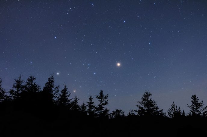 Astrophotography using a camera on a tripod