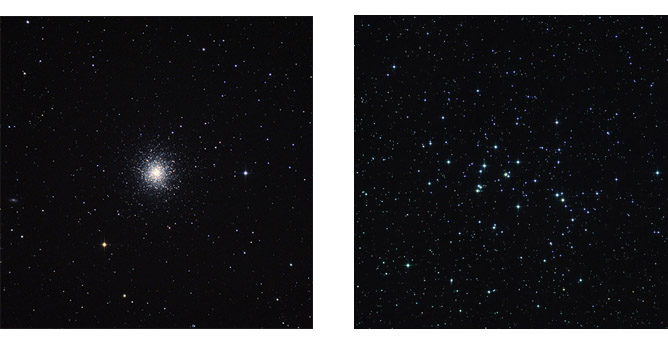 Star Clusters during a full moon