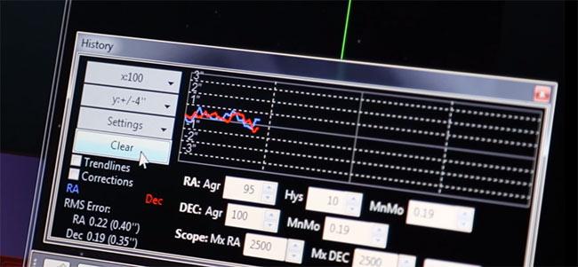 PHD2 Guiding Graph