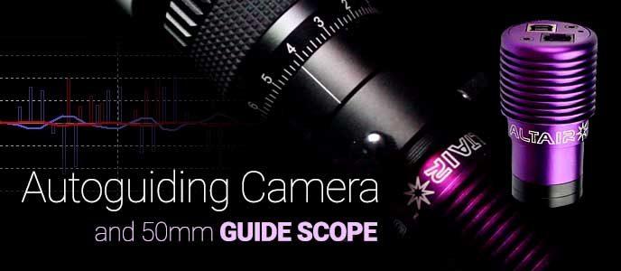 Astrophotography autoguiding camera