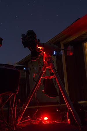 Astrophotography telescope setup
