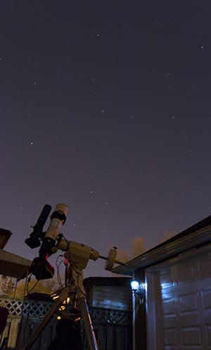 Astrophotography with a DSLR and telescope