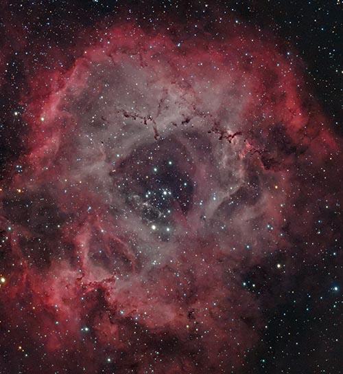 Rosette Nebula in HaRGB