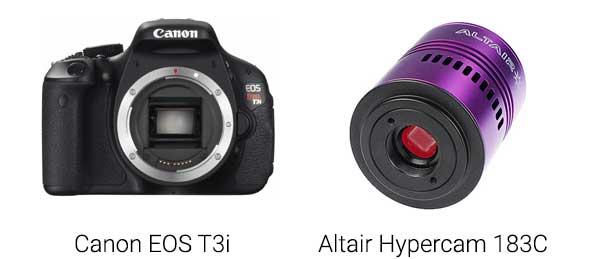 DSLR vs. CCD camera