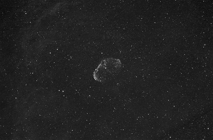 Crescent Nebula in H-Alpha