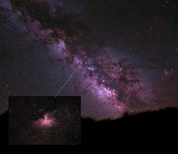 Milky Way and Eagle Nebula