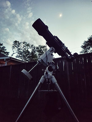 My telescope in the backyard