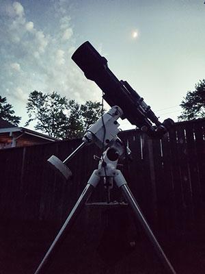 My telescope in the backyard