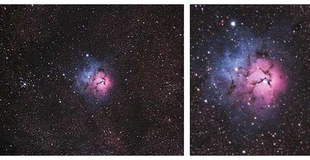 Trifid Nebula from Cherry Springs