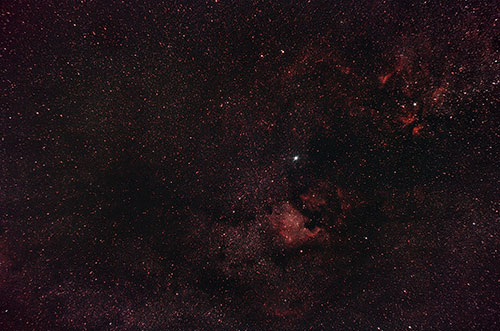Astrophotography with a wide angle camera lens
