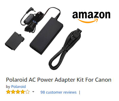 Canon DSLR AC adapter