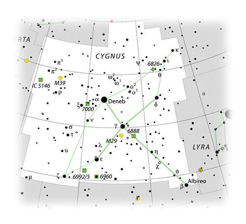 Crescent Nebula location