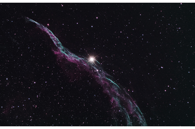 Veil Nebula photographed using an Explore Scientific ED102