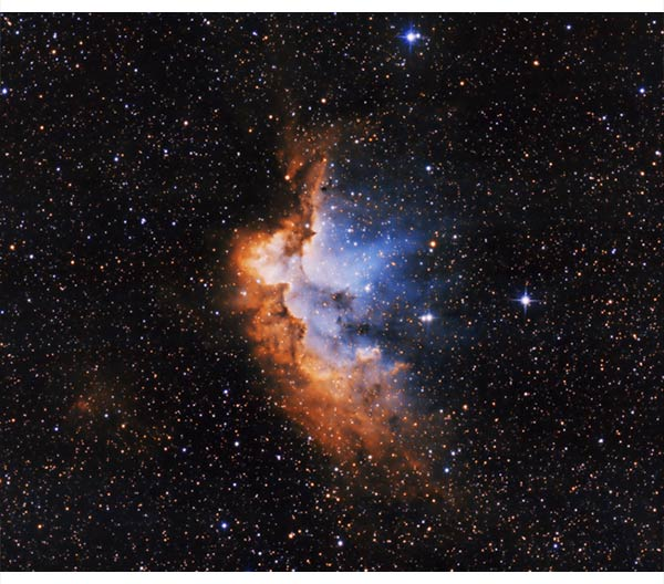 Wizard Nebula False Color