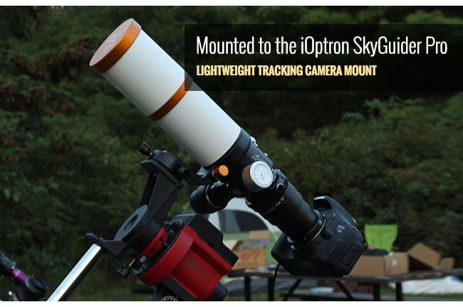Mounted to the iOptron SkyGuider Pro