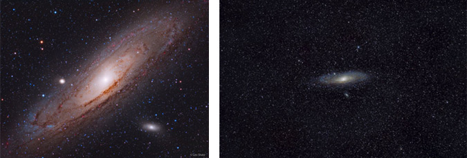 Images of the Andromeda Galaxy