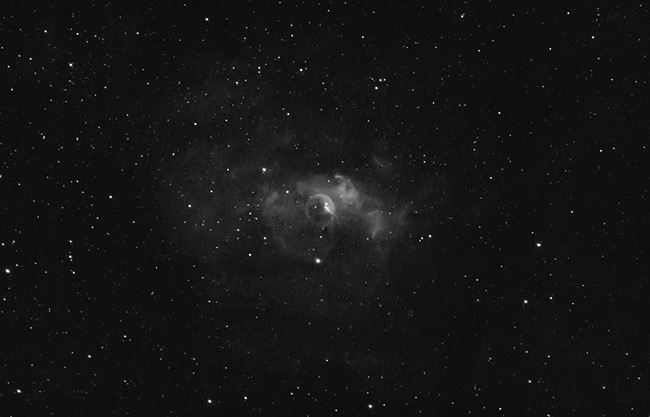 Bubble Nebula with a 12nm Ha Filter