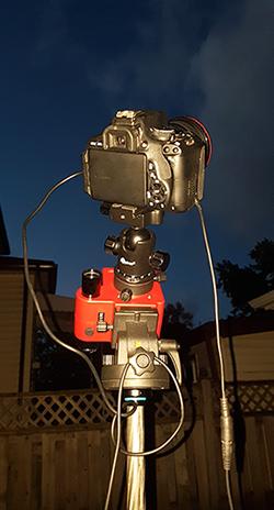 iOptron SkyTracker Pro on tripod