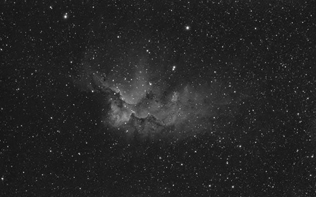 Wizard Nebula using a 12nm Ha Filter