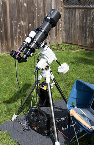 DSLR and telescope