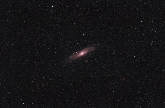 The Andromeda Galaxy using a DSLR camera