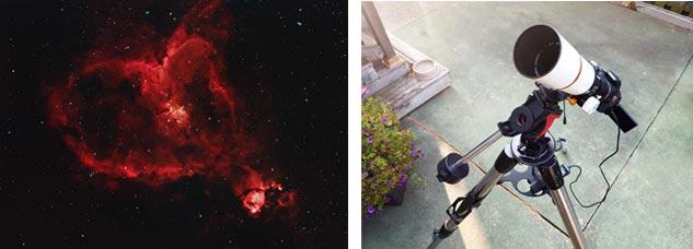 DSLR astrophotography setup