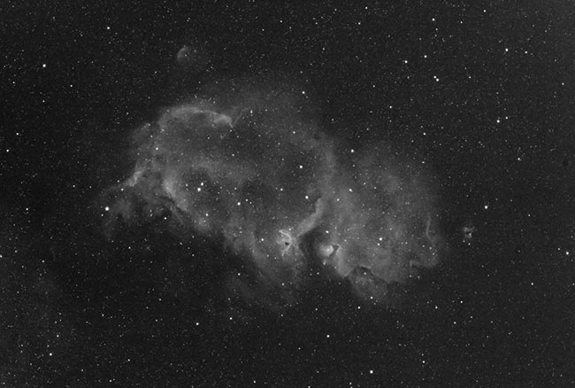 Soul Nebula in Ha