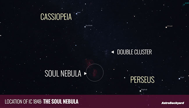location of the Soul Nebula