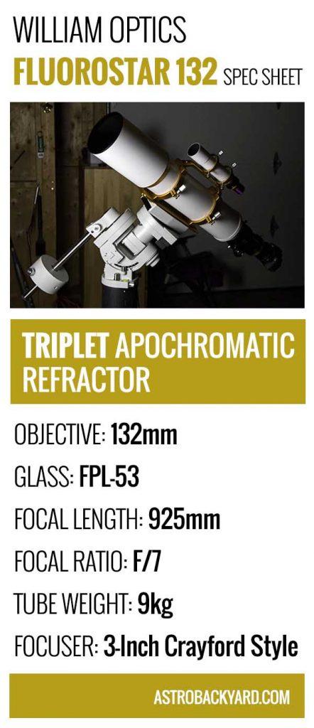 FLT 132 specs