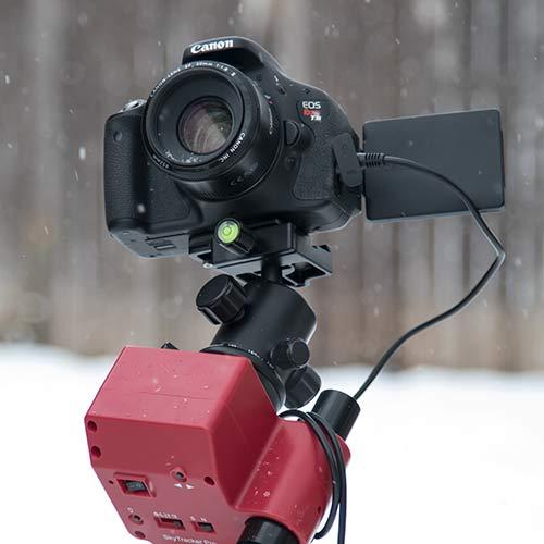 wide-angle astrophotography setup