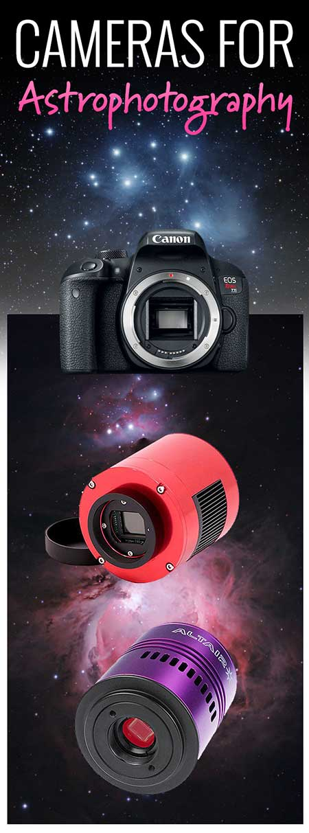 types of astronomy cameras