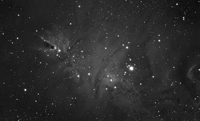 The Cone Nebula in Mono