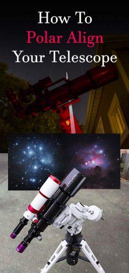 how to polar align a telescope mount