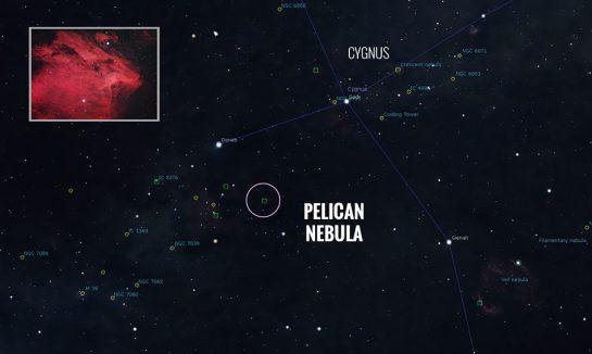 Pelican Nebula Star Map