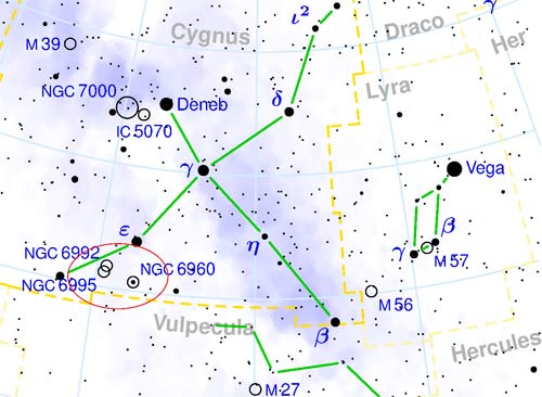 where is the veil nebula