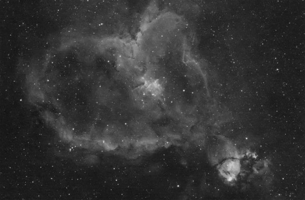 Heart Nebula in Ha