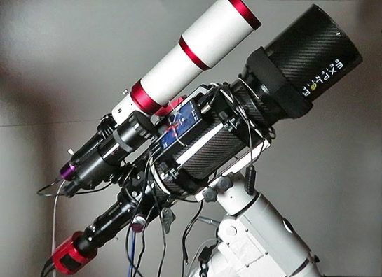 mounting the device to a telescope