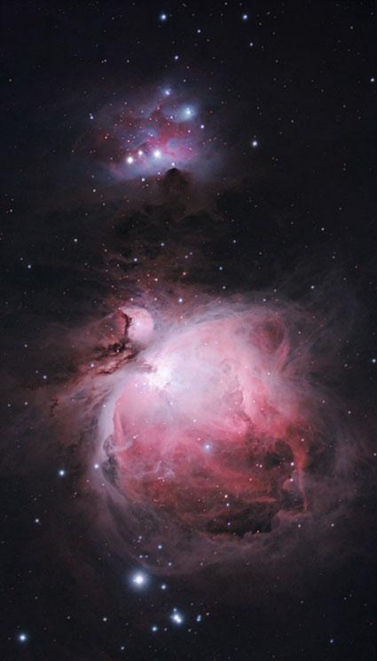 Orion Nebula through an astrophotography telescope
