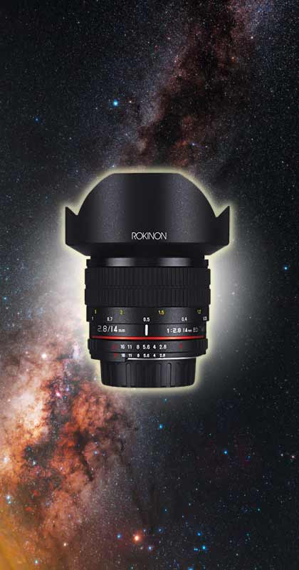 Rokinon 14mm lens for astrophotography