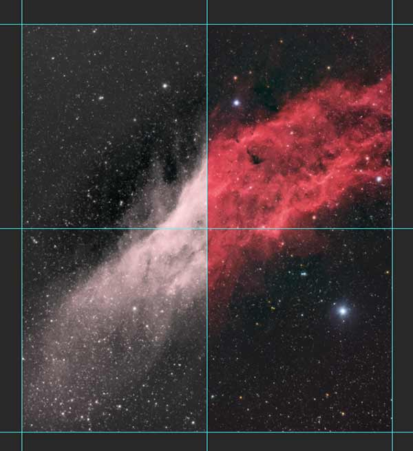 Ha + RGB image processing