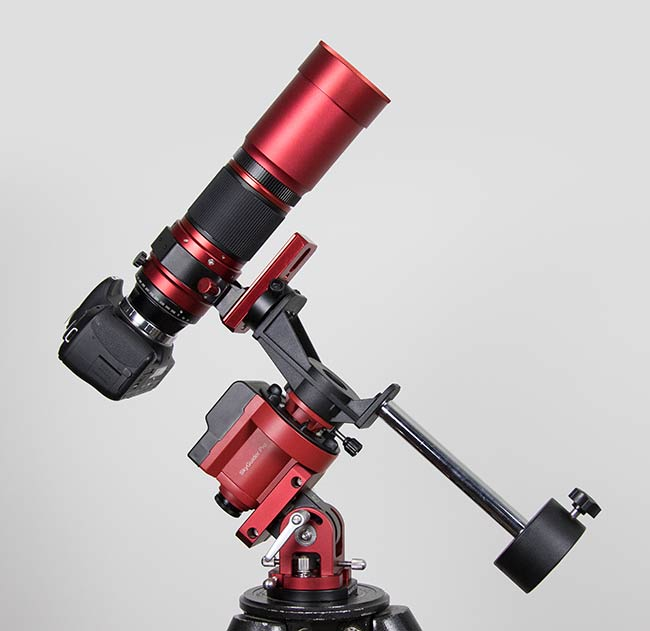 RedCat 51 mounted to an iOptron SkyGuider Pro