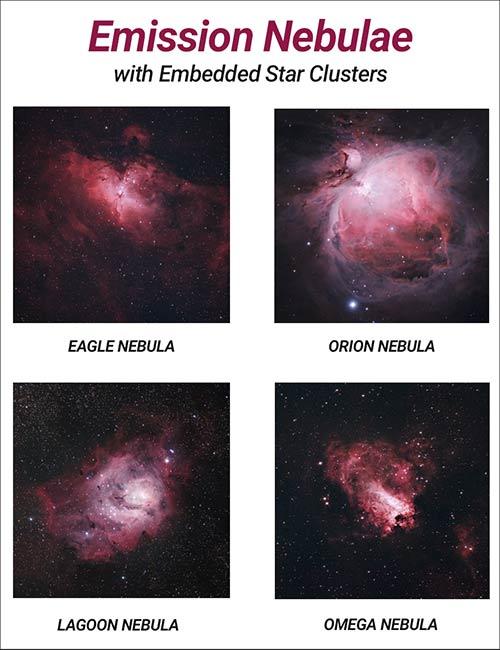 emission nebulae examples
