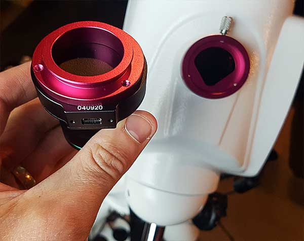 PoleMaster adapter for Sky-Watcher EQ6-R Pro