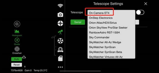 autoguiding with SkyGuider Pro
