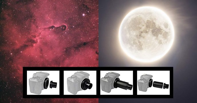 How to connect a DSLR camera to a telescope