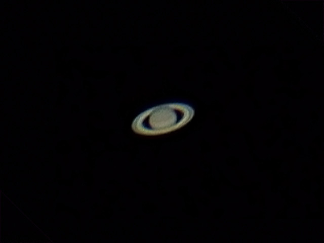 Saturn through a telescope