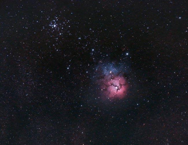 Trifid Nebula and M21
